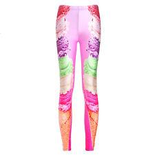 HOT Women YOGA Workout Gym Print Sports Pants Leggings Fitness Stretch Trousers