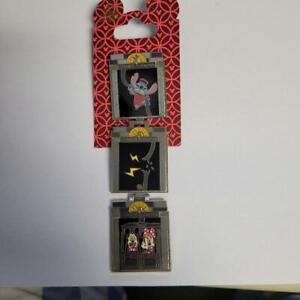 Disney Tower of Terror Minnie, Mickey and Stitch Z Fold Pin - new on card