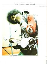 JIMI HENDRIX 'can't hear that' magazine PHOTO / Pin Up / Poster 11x8 inches