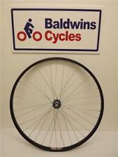 700c REAR Hybrid Bike / Cycle Wheel BLACK Alloy Rim & SCREW ON Alloy Hub