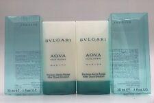 2 Lot AQVA AQUA MARINE POUR HOMME by Bvlgari 30ml/1.0/1oz Men After Shave Travel