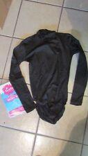 Esteem Athletic Adult Black Body Suit-XL-Turtleneck Cheerleading Uniform (CA 1)