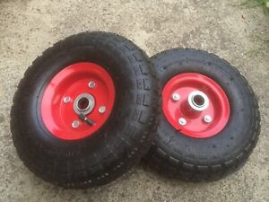 10 Inch Pneumatic Wheels Hand Trolley Cart Sack Truck Wheel Tyres 19mm Bore