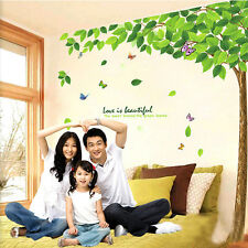 Butterflies & Green Tree Branch Decal Wall Sticker Mural for Home Room Decor