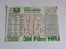 Schedina Totocalcio Concorso n°17 del 16-12-1984 - Come Foto [AF1]