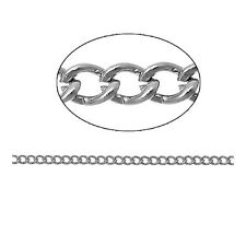 10m x Silberton Eisenlegierung 3 x 4mm Öffnen Panzer Kette CH2845