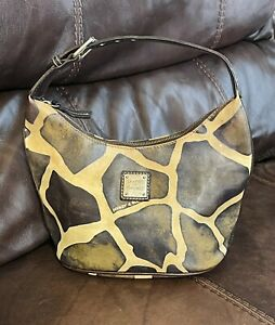 Dooney and Bourke Giraffe Print Hobo Shoulder Bag