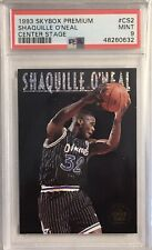 New listing 1993 Skybox Premium Shaquille O'Neal Center Stage PSA 9