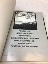 1980 Rim of the World High School Yearbook Lake Arrowhead California