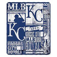 "NEW MLB Kansas City Royals ""Strength"" Fleece Throw Blanket 50""x 60"""