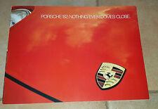 PORSCHE AUDI RANGE GAMMA 1982 CATALOGO POSTER DEPLIANT BROCHURE USA NOS