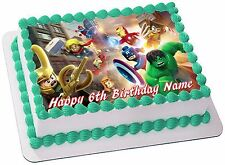 SUPER HEROES  REAL EDIBLE ICING CAKE TOPPER PARTY IMAGE FROSTING SHEET