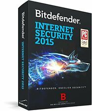 BITDEFENDER INTERNET SECURITY 3 PC - 2015 2018 - ACTIVATION CODE - NO CD
