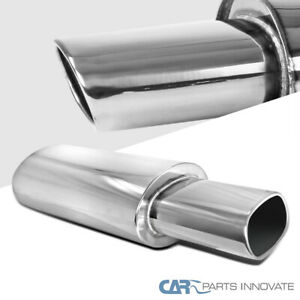 5.5 Inch Outlet Tip 2.5 Inch Inlet JDM Exhaust Muffler High Flow Stainless Steel