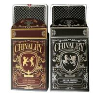 Chivalry Playing Cards Gold & Silver Editions Medieval Europe 2-Deck Set