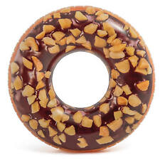 Intex - 45in Nutty Chocolate Donut Tube, Inflatable Rubber Ring Pool & Beach Toy