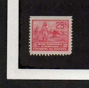 Canada, War Savings stamp, booklet pane single, depicts pilots and airplane.