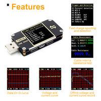 KQ_ FNB38 USB LCD Current Voltmeter QC4 PD3.0 2.0 PPS Fast Charging Tester Charm