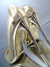 NEU Hohe Damen Pumps Elegant Classic High Heels N31 Schuhe Metallic Gold 36