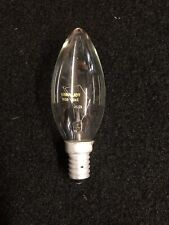SES / E14 Small Screw In Clear Candle Light Bulb Lamp 40w New x 10