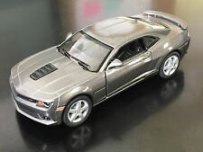 "Kinsmart 5"" 2014 Chevy Chevrolet Camaro Diecast Model Toy Car 1:38 Grey"