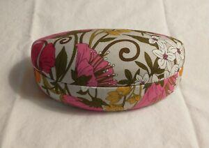 Vera Bradley Clamshell Hard Case For Glasses Pink Flowers