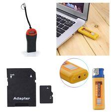 Lighter Spy Cam Video, Audio, & photo recorder Nanny Cam w/8gb sd card & reader