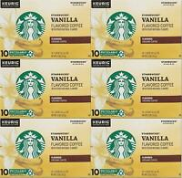 60 COUNT Starbucks Vanilla K-Cups Coffee for Keurig Best Before February 2020