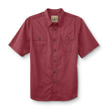 Men's Shirt Button Front Size Large Earth Red