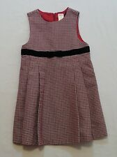 """Gymboree """"Classic Holiday"""" Houndstooth Pleated Holiday Lined Jumper Dress, 5"""