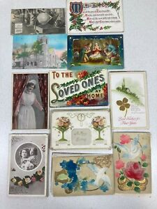 Lot of Early 1900s Vintage/Antique Postcards w/Postage & Correspondence/Messages