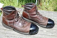 RED WING CAP TOE LEATHER WORK BOOTS SIZE 14 B
