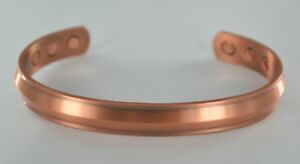 MENS PERSONALISED GIFT ENGRAVED PURE COPPER BANGLE MAGNETIC THERAPY BRACELET