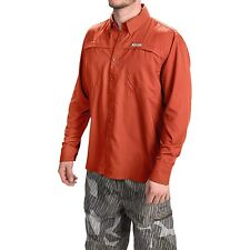 Simms Ebbtide Fishing Guide Shirt UPF 50+ Long Sleeve - Fury Orange - XL - NEW!