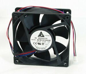 High Airflow Cooling Fan 120x120x38mm Delta Electronics AFB1212HHE RPM Sensor