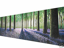 Huge landscape art painting flowers forest Tree 240CM X 80CM By Jane COA