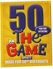 50º compleanno regalo idea-CARD GAME soprattutto per 50ths! PLUS cinquantesimo CONFEZIONE REGALO!