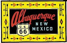 Route 66 Albuquerque  NM Vintage Style Travel Decal Sticker  Highway  New Mexico