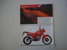 advertising Pubblicità 1988 MOTO HONDA NX 650 DOMINATOR