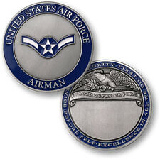 ENGRAVABLE UNITED STATES AIR FORCE AIRMAN RANK MILITARY