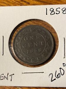 1858 CANADA LARGE CENT..XF..RARE..