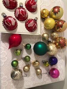 christmas decorations balls Vintage Lot