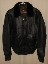 Bomber Flight Jacket G-1 Goat Skin Leather Eddie Bauer Military Style 42