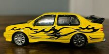 Racing Champions~1995 Volkswagen Jetta Series 4~Yellow/ Black Graphics~Loose