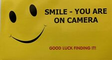 Smile You Are On Camera Sticker Hidden Camera, CCTV, Alarm System