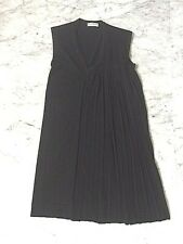 BALENCIAGA BLACK WOOL HALF PLEATED DRESS - SZ EUR 36