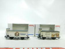 bj533-0,5 #2x Märklin H0/DC CARRO MERCI CAPPUCCETTO ROSSO 34973 / LUTON 94026 DR