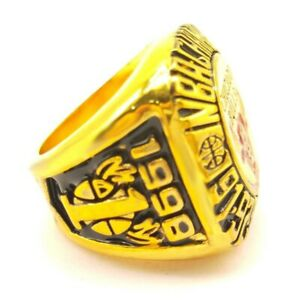 Ring of Chicago Bulls 1998 National Champion Rings Basketball - All Sizes