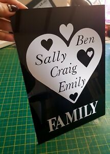 PERSONALISED GIFT FAMILY HOUSE SIGN ACYRLIC GLOSS SIGN PLAQUE
