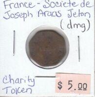 France Societe de Joseph Araas Jeton - Charity Token